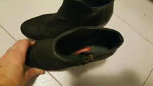 Pedro-Miralles-botines-en-piel-negros-38-bottes-boots-stoevlar-stivali-chic
