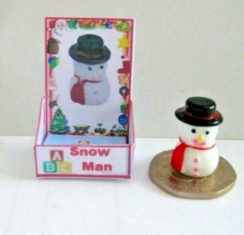 PUPAZZO di NEVE Casa delle Bambole Miniature