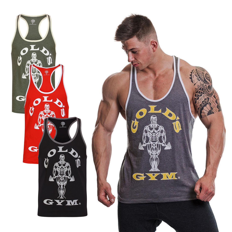 597c61d82af golds Gym Hombre Camiseta Camiseta Tirantes Músculo Joe Stringer Contraste