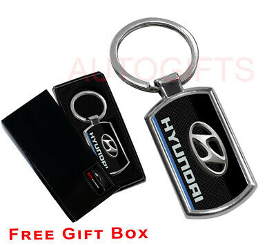 Branded Automotive Merchandise Vehicle Parts & Accessories Rapture Hyundai Keyring Key Chain Ring Fob Chrome Metal New Gift Shrink-Proof