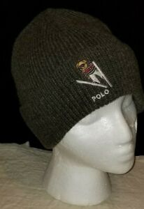 1cc91dc171614 Polo Ralph Lauren NEW skiing Suicide Bear Gray cuffed beanie hat ...