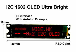 IIC-I2C-1602-16x2-RED-OLED-Module-Display-For-Arduino-PIC-AVR-ARM