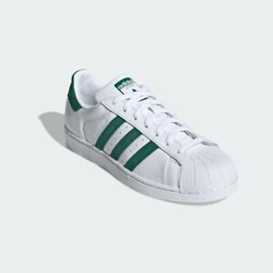 Details about New Adidas Superstar EE4473 White Green, Men's Running Shoes Sport Sneakers
