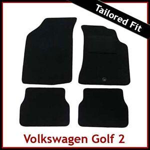 Volkswagen-VW-Golf-Mk2-1983-1992-Tailored-Carpet-Car-Floor-Mats-BLACK