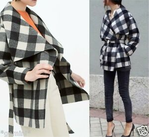 Details about Zara hand made wool coat jacket coat kimono proven size m show original title
