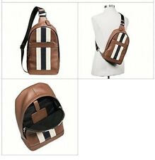 d64296672432 Coach Mens Varsity Leather Charles Backpack F72237 DK Saddle for ...