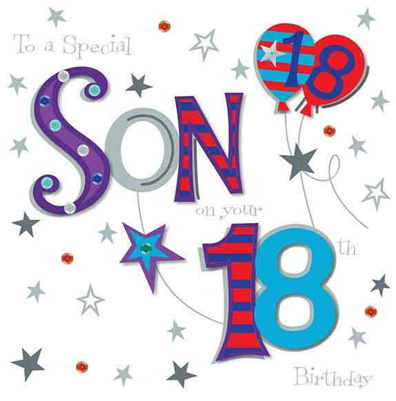 Large STUNNING Handmade Special Son 18th Birthday Greeting Card For Sale Online