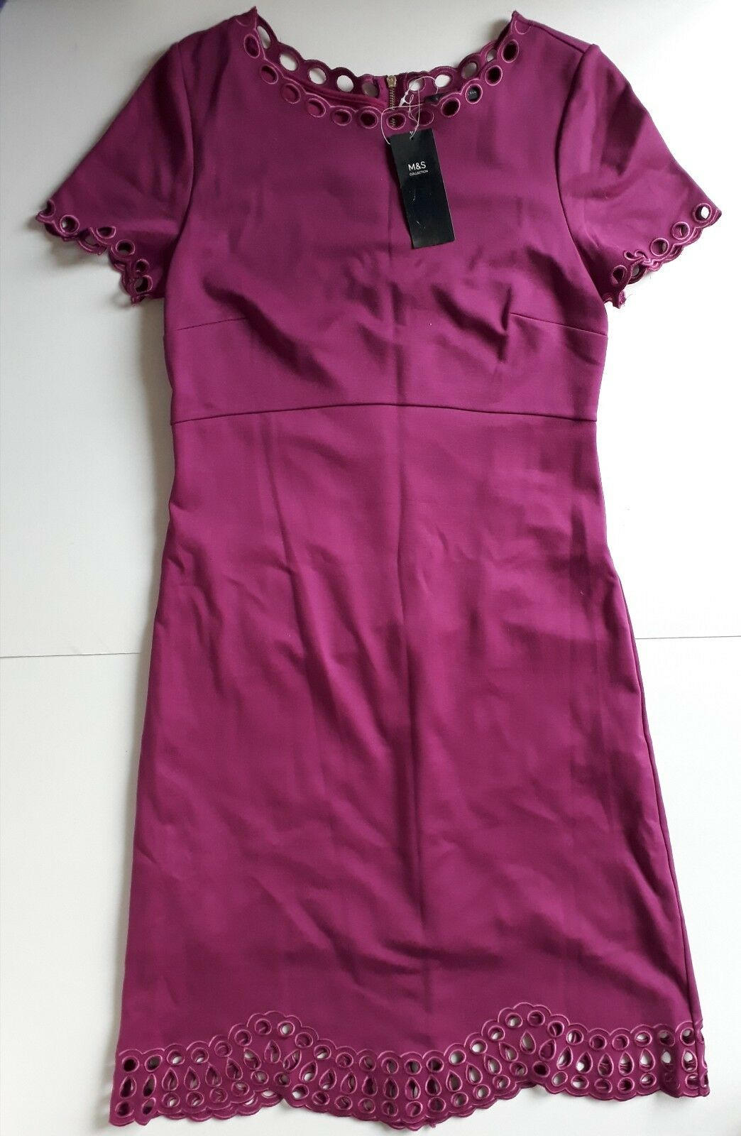 Marks and Spencer's dark pink dress size 10 regular new with tags