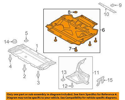 New Engine Splash Shield Rear Audi S6 2007-2011 AU1228108 4F0863822D