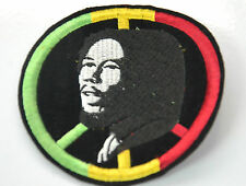 BOB MARLEY RASTA REGGAE JAH Embroidered Iron Sew On Cloth Patch Badge  APPLIQUE