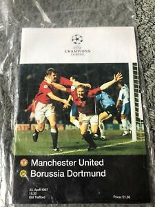 Manchester United vs borussia dortmund Champions League Semi Final Programme
