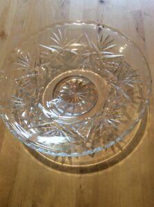 Vintage-Lead-Crystal-Cut-Glass-Fruit-Bowl-Bonbon-Dish-Centrepiece