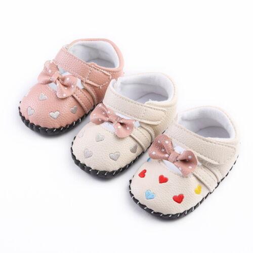 Fashion Baby Infant Girls Walking Shoes Soft Newborn Crib Shoes Babyshoes 0-18M