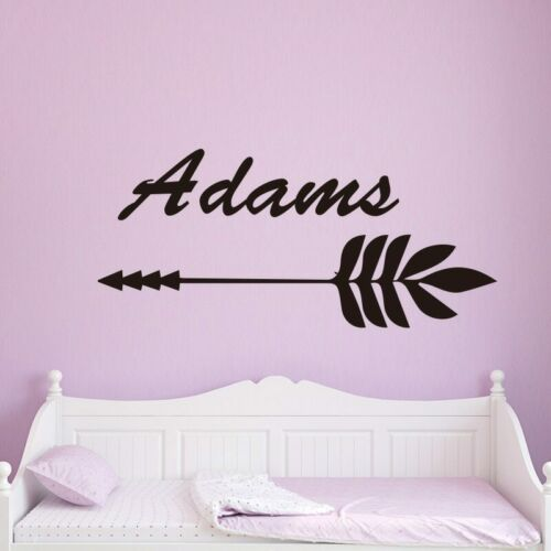 Personalized Custom name of arrow Wall Sticker Removable Self ...