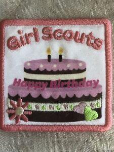 Girl Scout Iron On Fun Patch Happy Birthday Cake Girl Scout Fun