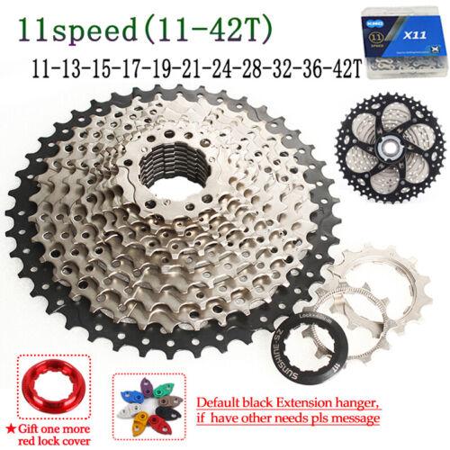 SUNSHINE 8-11Speed MTB Mountain Bike Cassette11-40//42//46//50T KMC Chain Hook Tail