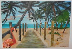 """""""Caraïbes FLAIR"""" peinture l'artiste Hilde tution- Nature Painting-afficher le titre d`origine"""