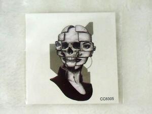 Tatouage Temporaire Tattoo Old School Graphique Femme Skull Double