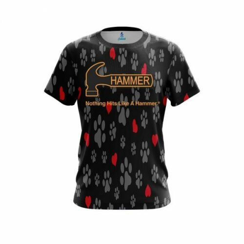 Hammer Puppy Love Black CoolWick Bowling Jersey