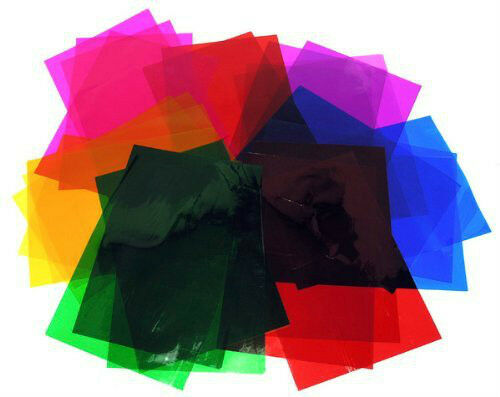 A4 Cellophane stained glass craft 6 Colours Clear Film 48 sheets   7330-1