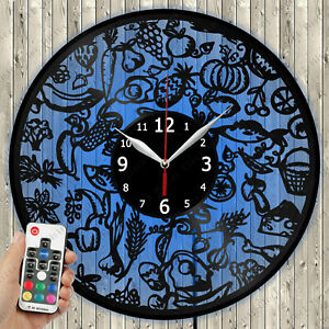 Details about  /LED Clock Bicycle Vinyl Record Wall Clock Led Light Wall Clock 3012