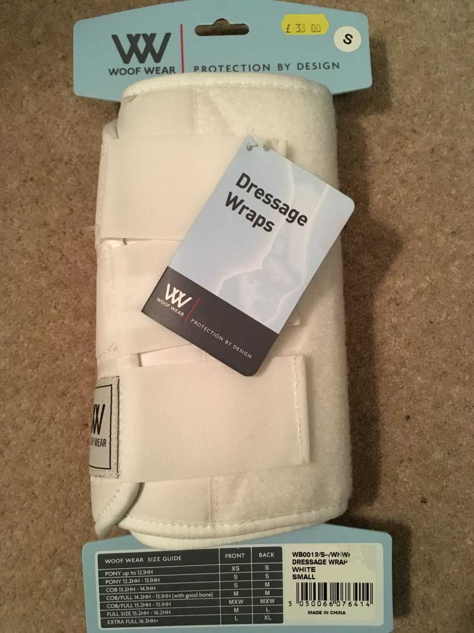Woof Wear Dressage Wraps Small White