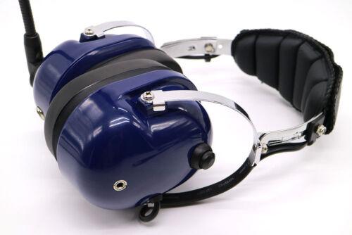 Noise Cancelling Pilot Headset for Yaesu Radio VX5R VX-6R VX-7R 7E VXA710 BLUE
