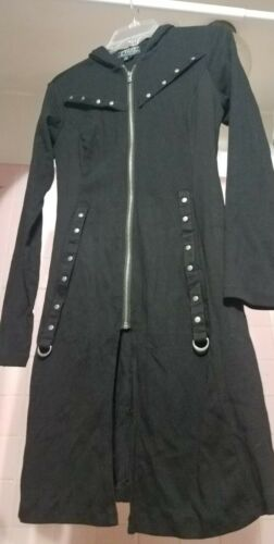 Tripp Hot Topic Black Goth Punk Corset Stud Long T