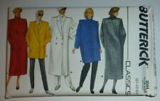 UNCUT Vintage Butterick Sewing Pattern Misses Straight Lined Loose Fit Coat 4044