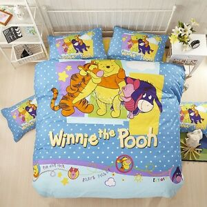 Image Is Loading Winnie The Pooh Duvet Quilt Doona Cover Set