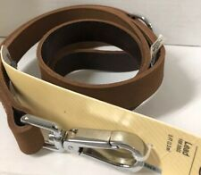 Bond & Co. Suede Leather Dog Lead in Dark Brown 5 Ft.