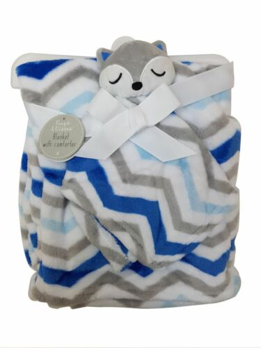Newborn Soft  Baby Comforter and  Snuggle Blanket Blue