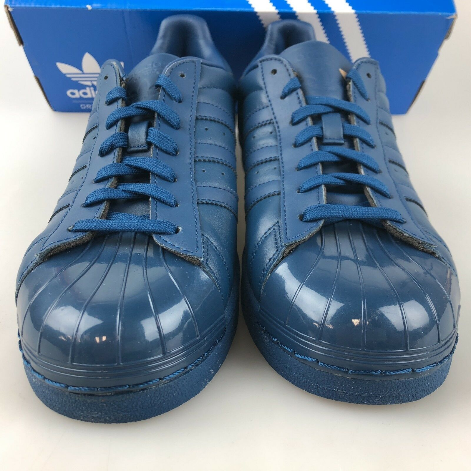 Adidas Damens Originals Superstar Glossy Toe Trainers Trainers Trainers Blau S76723 4b385e