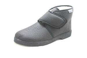 buy popular 68015 6b271 Dettagli su pantofole uomo lana emanuela 591 effetto montone strap confort  nera