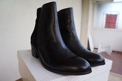 Détails sur JONAK Bottines Boots Cuir Suede Noir Doublées Cuir Doubles Zips T 41 TBE