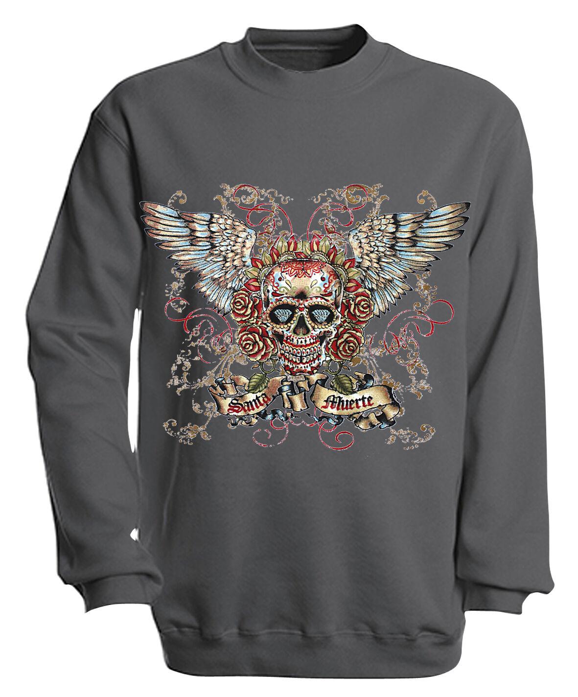 (10282-1 grau) Sweatshirt Sweater S M L XL XXL 3XL 3XL 3XL 4XL - Totenkopf SANTA MUERTE  | Attraktiv Und Langlebig  |  Neuer Markt  | Ab dem neuesten Modell  8e3b87