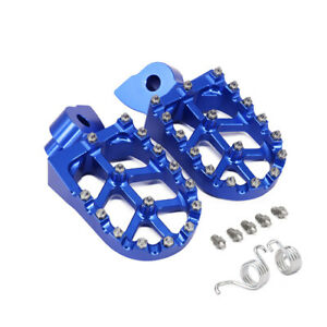 Billet-MX-Foot-Pegs-Rests-Pedals-For-Yamaha-WR250F-WR400F-WR426F-WR450F-Blue