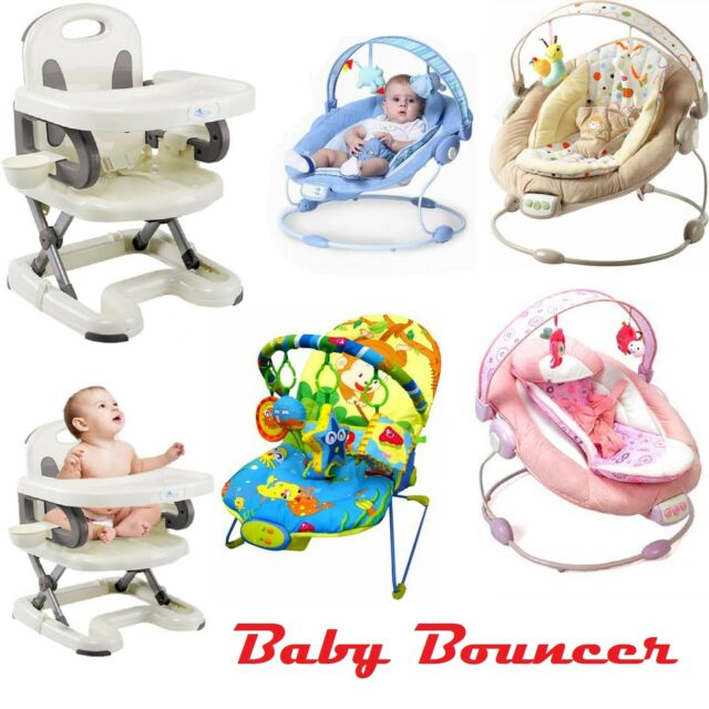 Newborn To Toddlers Bouncing Rocker Fitness Chair Soft Seat Soothing Musical UK