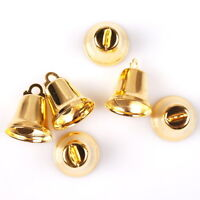 200pcs Wholesale Antique Gold Iron Jingle Bell Charms Fit Festival Jewelry DIY C