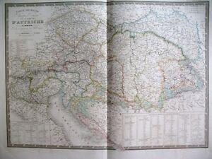 AUTRICHE-EMPIRE-CARTE-ATLAS-BRUE-GRAVURE-KARTE-1844