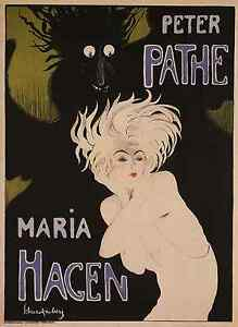 MARIA-1918-Vintage-Theater-Advertising-Poster-CANVAS-PRINT-24x32-in