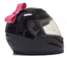 Pink Stick On Motorcycle Bike Biker Bicycle Ski Helmet Bow NEW +