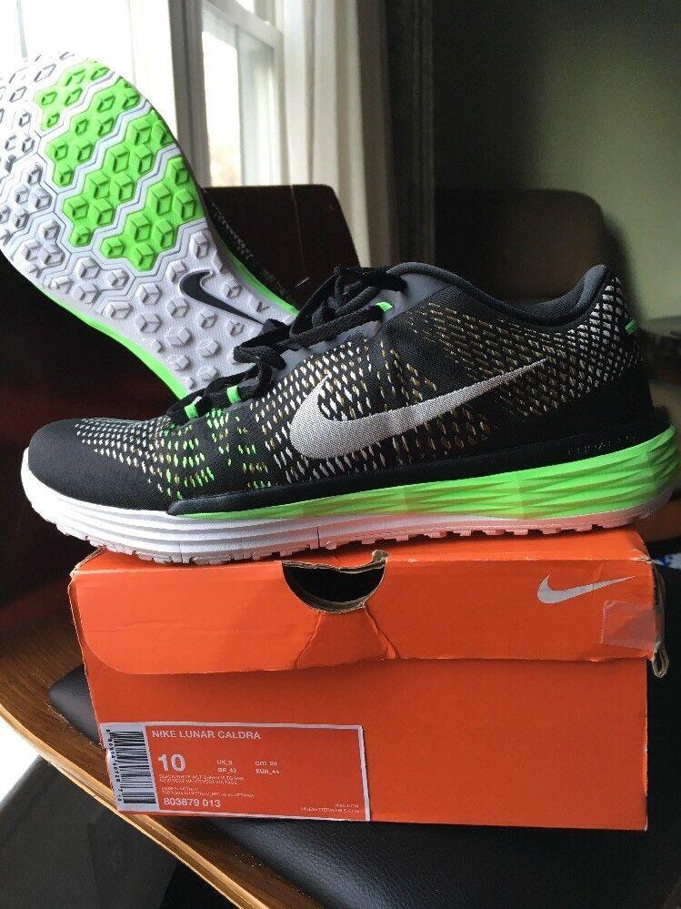 Nike Lunar Caldra Black/Green Mens Training Shoes 803879-013 MSRP $160 Size 10