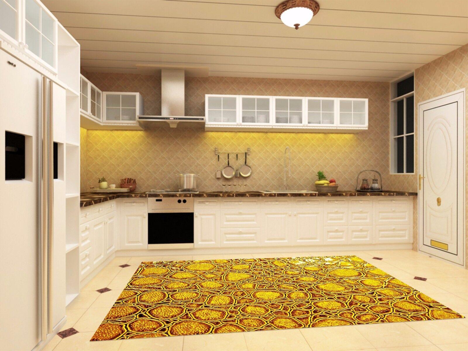 3D Gelb Texture4 Kitchen Mat Floor Murals Wall Print Wall AJ WALLPAPER UK Kyra