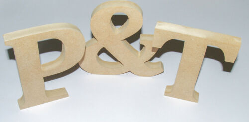 Free standing Wooden Letters MDF 18 MM Thick-Hand made-Cambria-FROM 90 PENCE