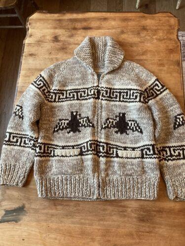 Vintage Cowichan Thunderbird Sweater