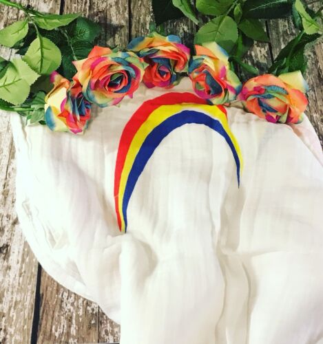 Rainbow Baby Muslin Swaddle Blanket