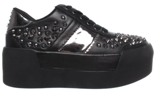 Liu JO WOMEN'S SHOES SNEAKERS Maxy 01 Leather Black New