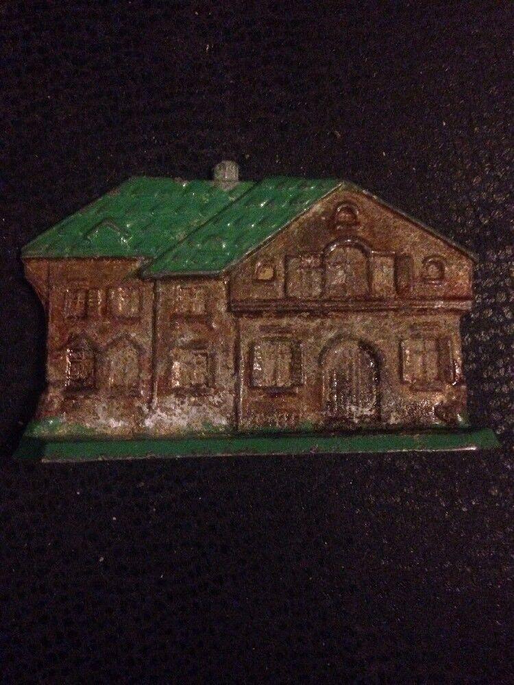 Antique Cast grigio Iron Toy House