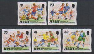 Jersey - 1996, European Football set - MNH - SG 741/5